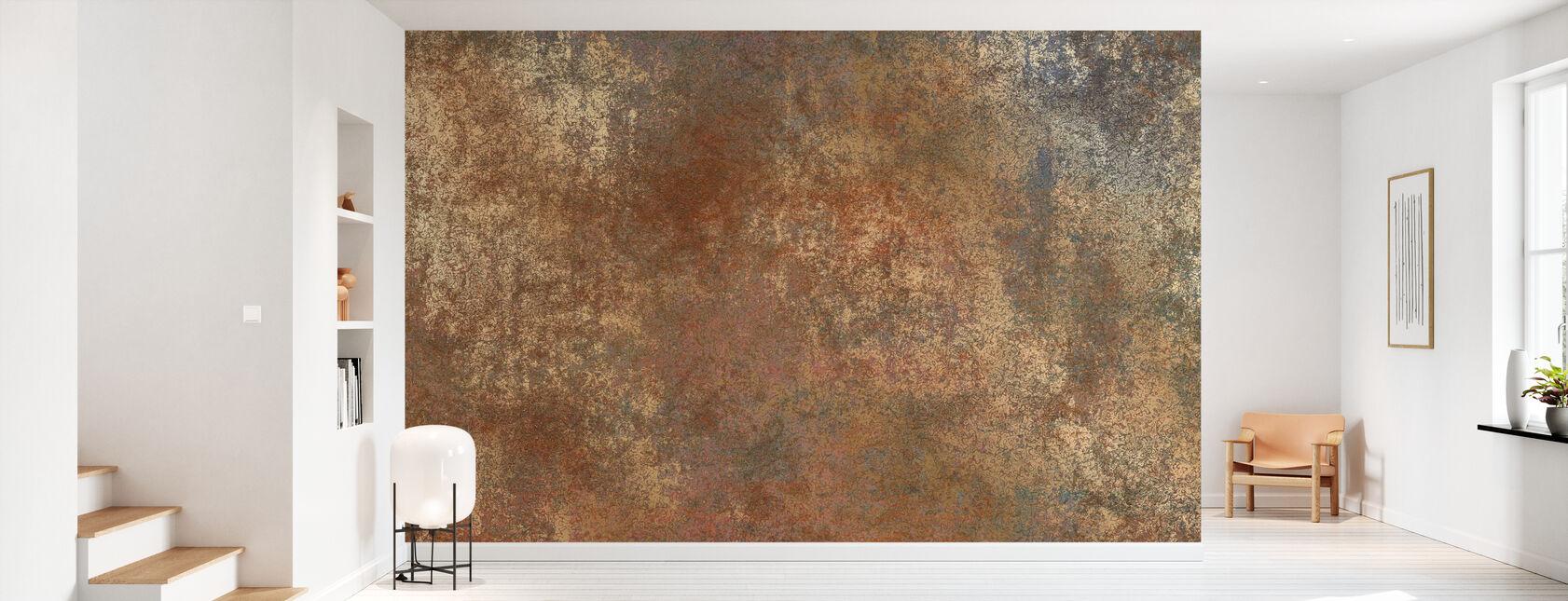 Rust n Gold Wall - Wallpaper - Hallway