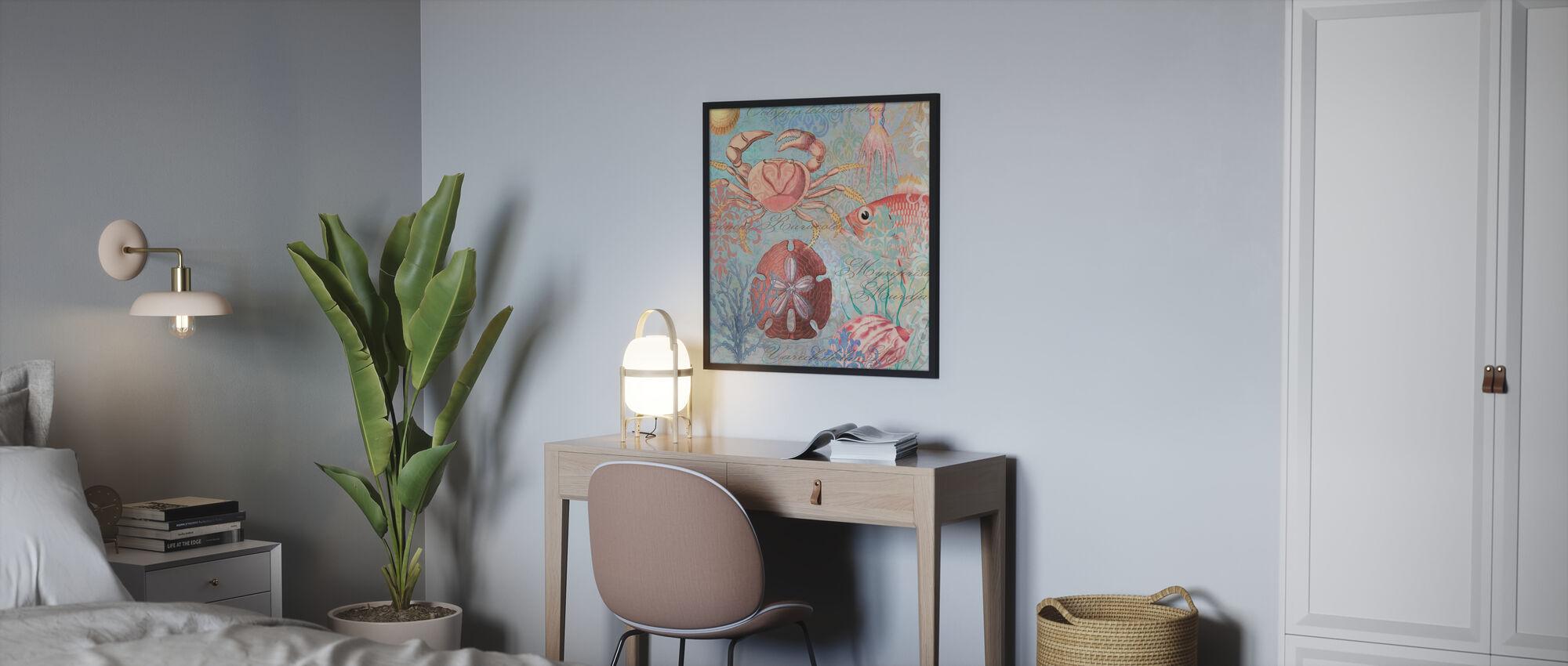 Sea Life Arabesques - Poster - Bedroom