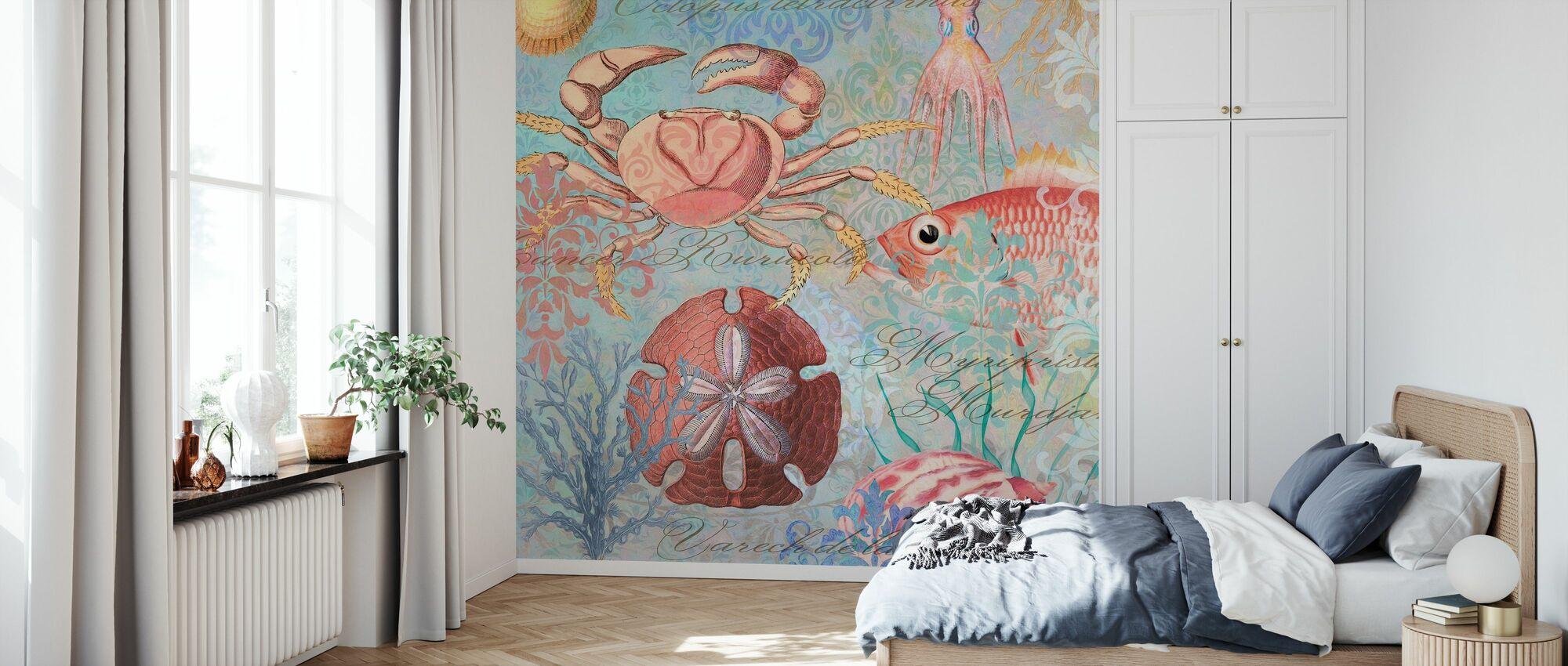 Sea Life Arabesken - Tapete - Schlafzimmer