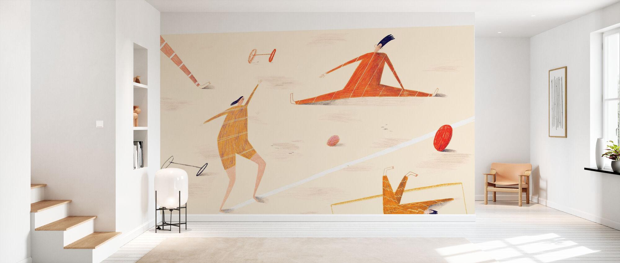 Sports Lesson - Wallpaper - Hallway