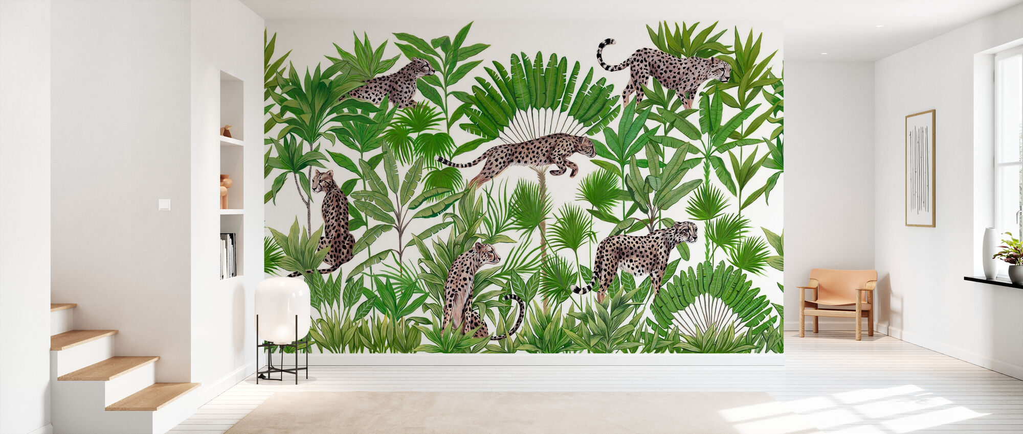 Lurking Cheetahs - Wallpaper - Hallway