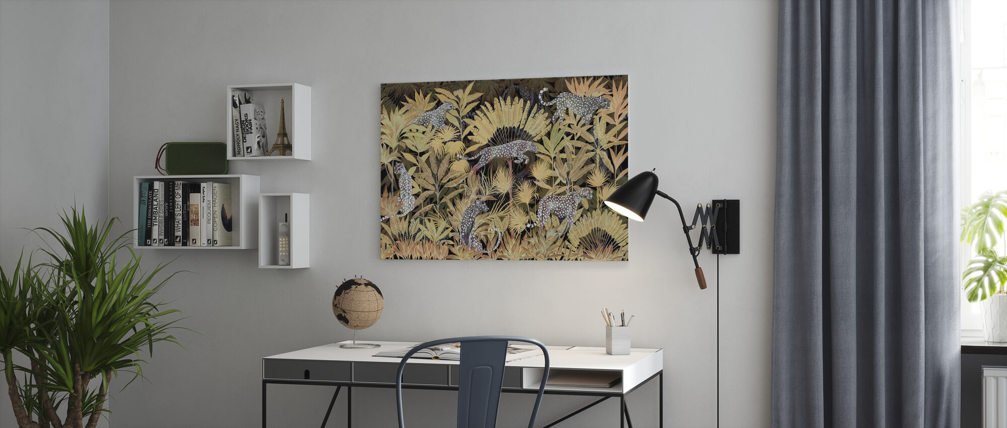 Lurking Cheetahs - Midnight - Canvas print - Office