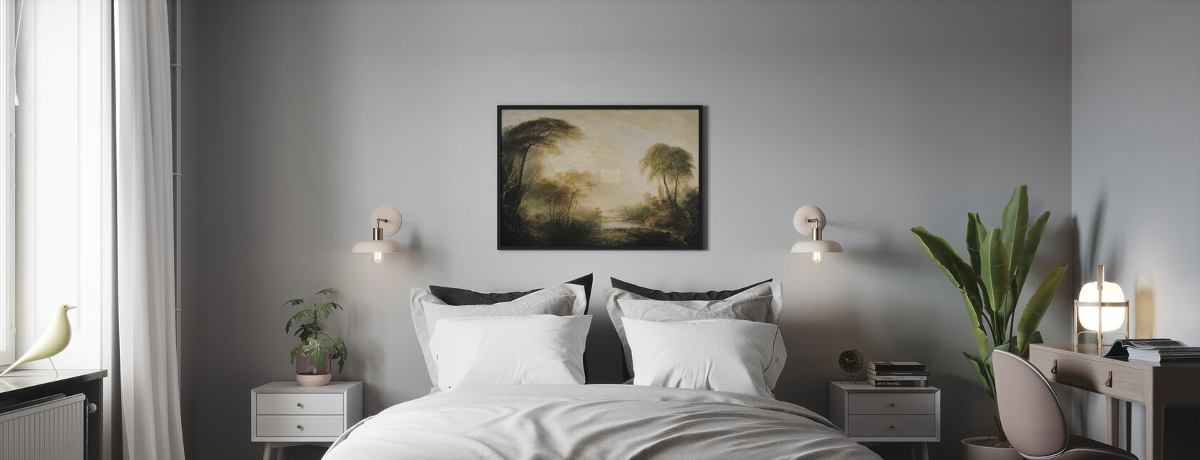 Paysage luxuriant - Affiche - Chambre