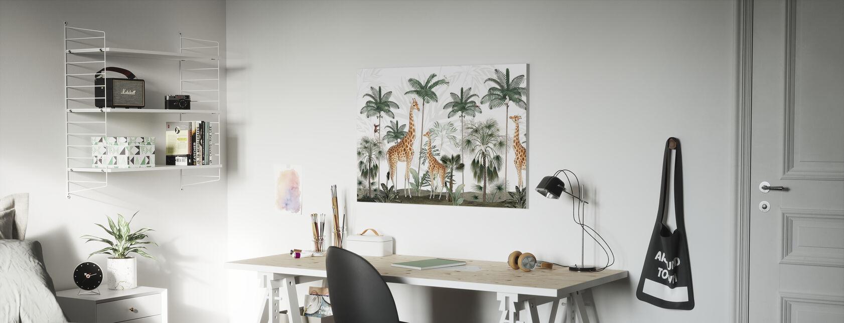 Gracious Giraffes - Canvas print - Kids Room