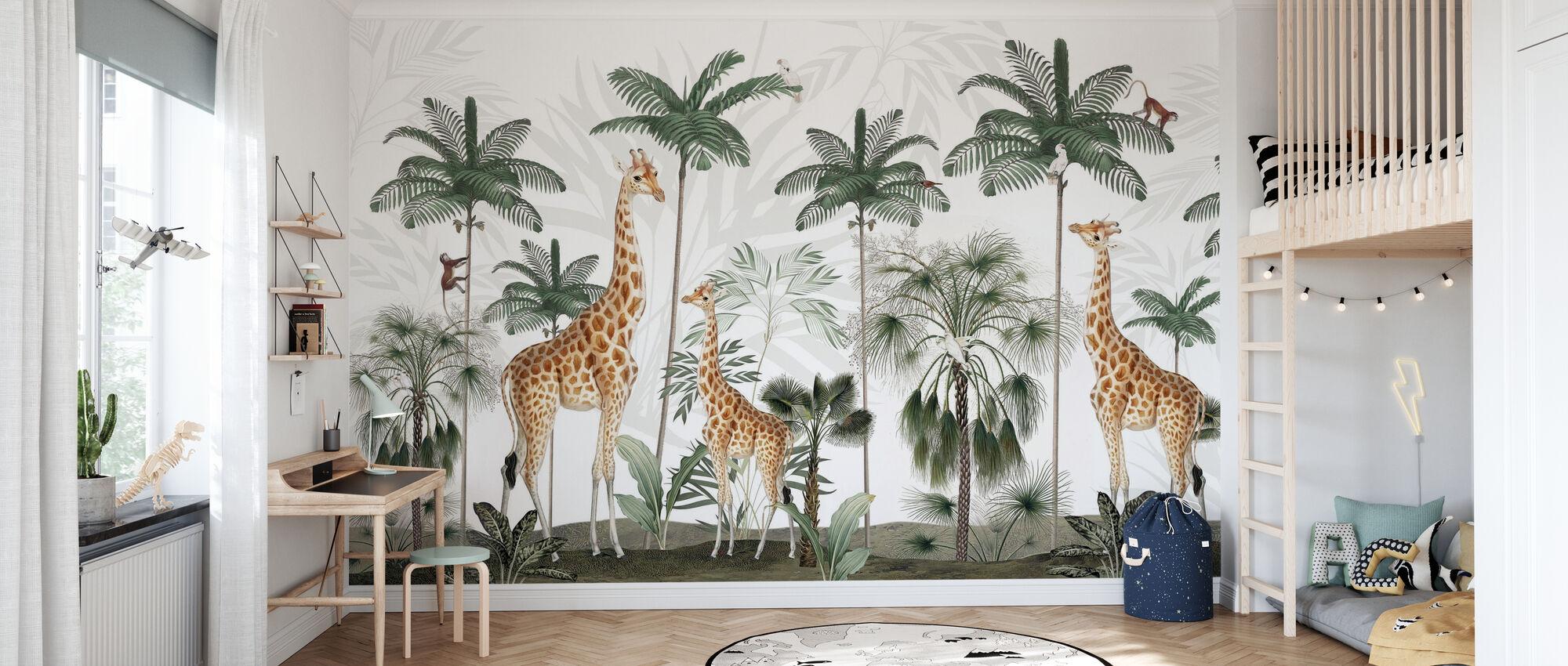 Gracious Giraffes - Wallpaper - Kids Room