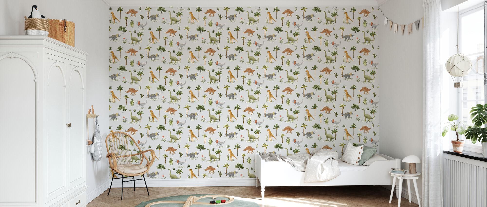 Dazzeling Dinos - Wallpaper - Kids Room