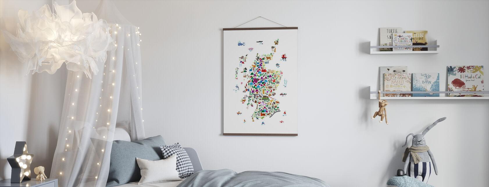 Animal Map - Scotland - Poster - Kids Room
