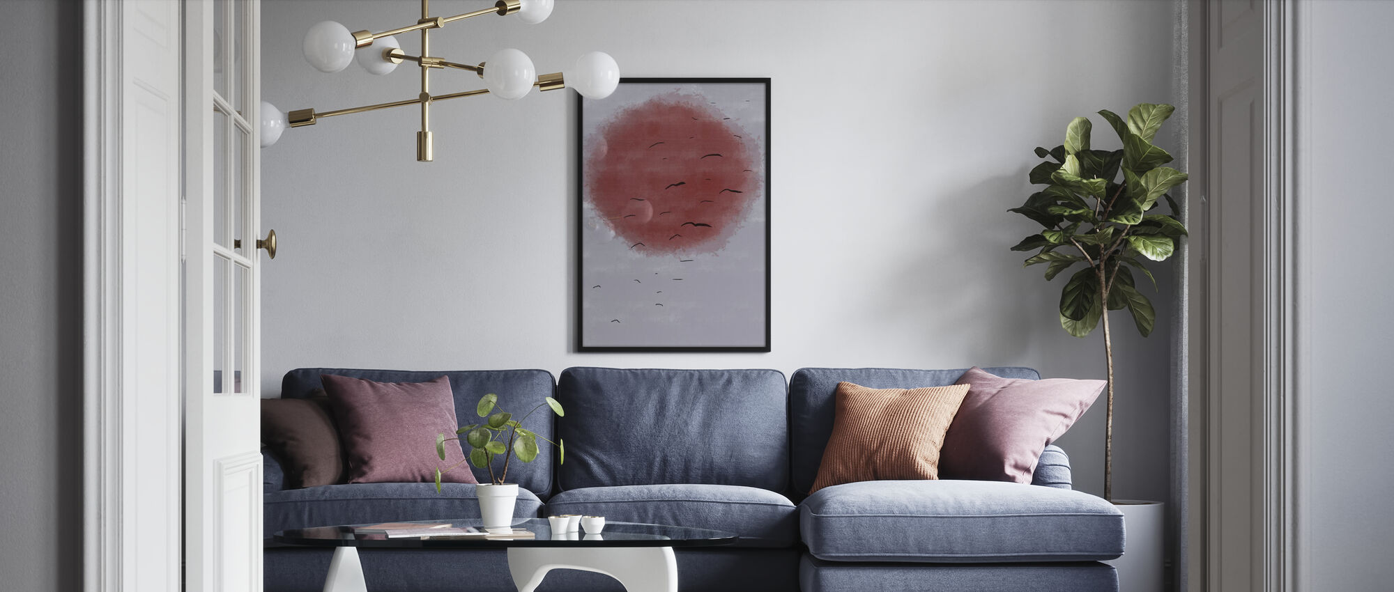 Red Moon - Poster - Living Room
