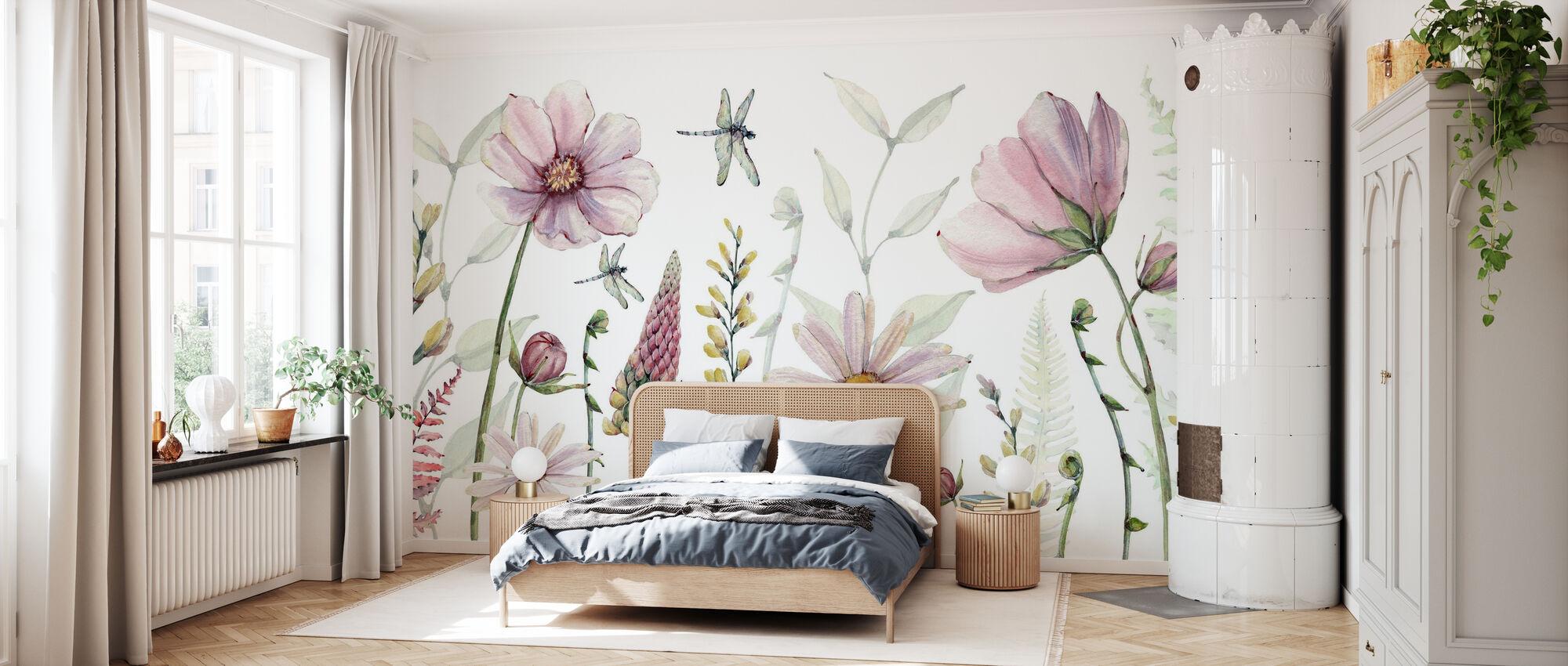 Fabulosas flores - Papel pintado - Dormitorio