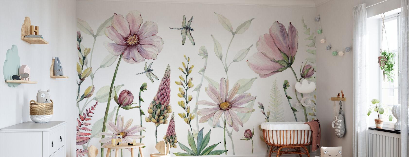 Fabulous Flowers - Wallpaper - Nursery