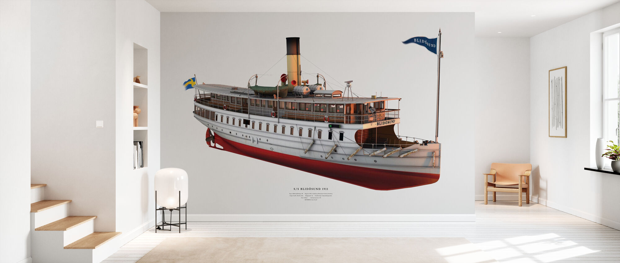 Blidosund II - Wallpaper - Hallway