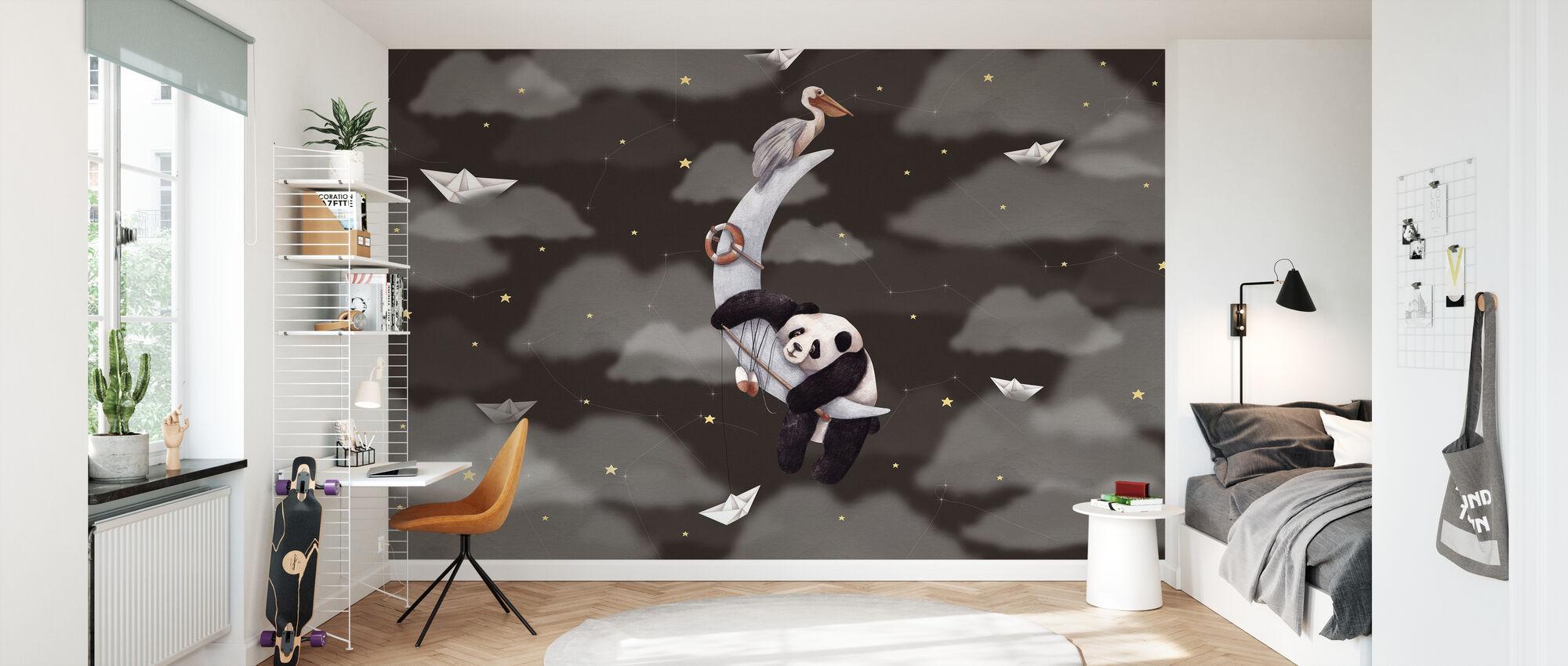 Panda Moon - Wallpaper - Kids Room