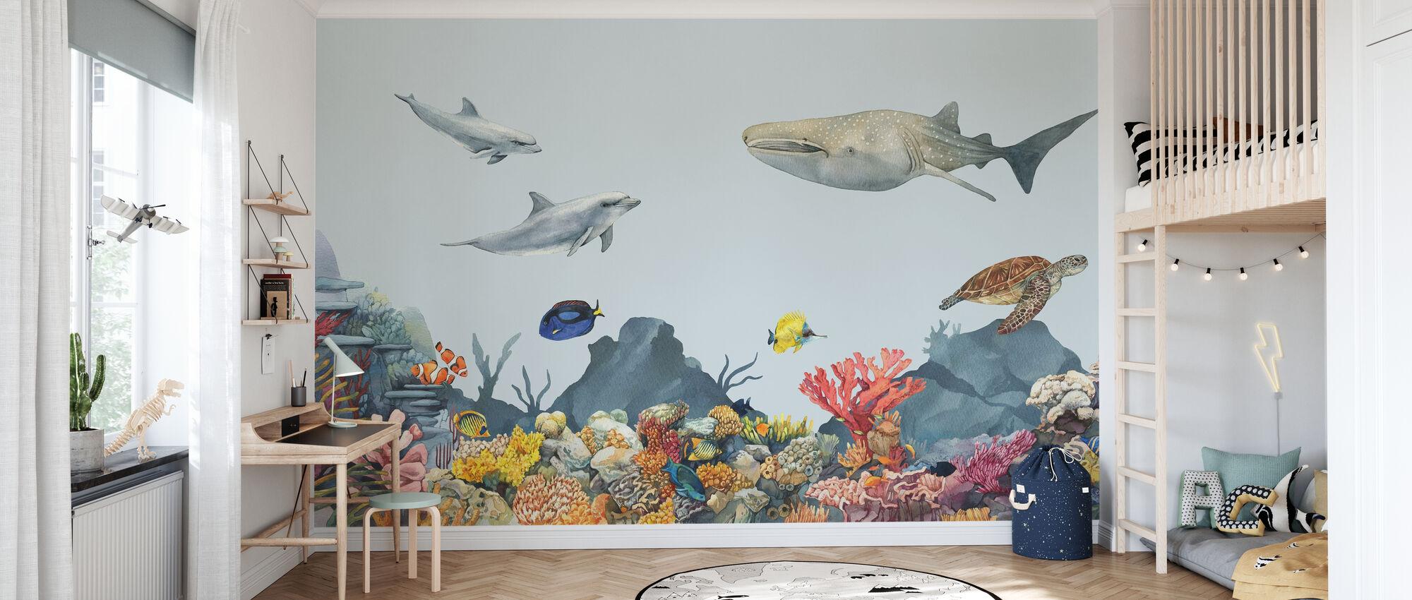 Underwater Friends - Wallpaper - Kids Room