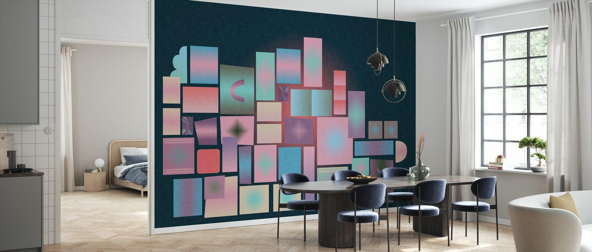 Dark Blocks - Wallpaper - Kitchen
