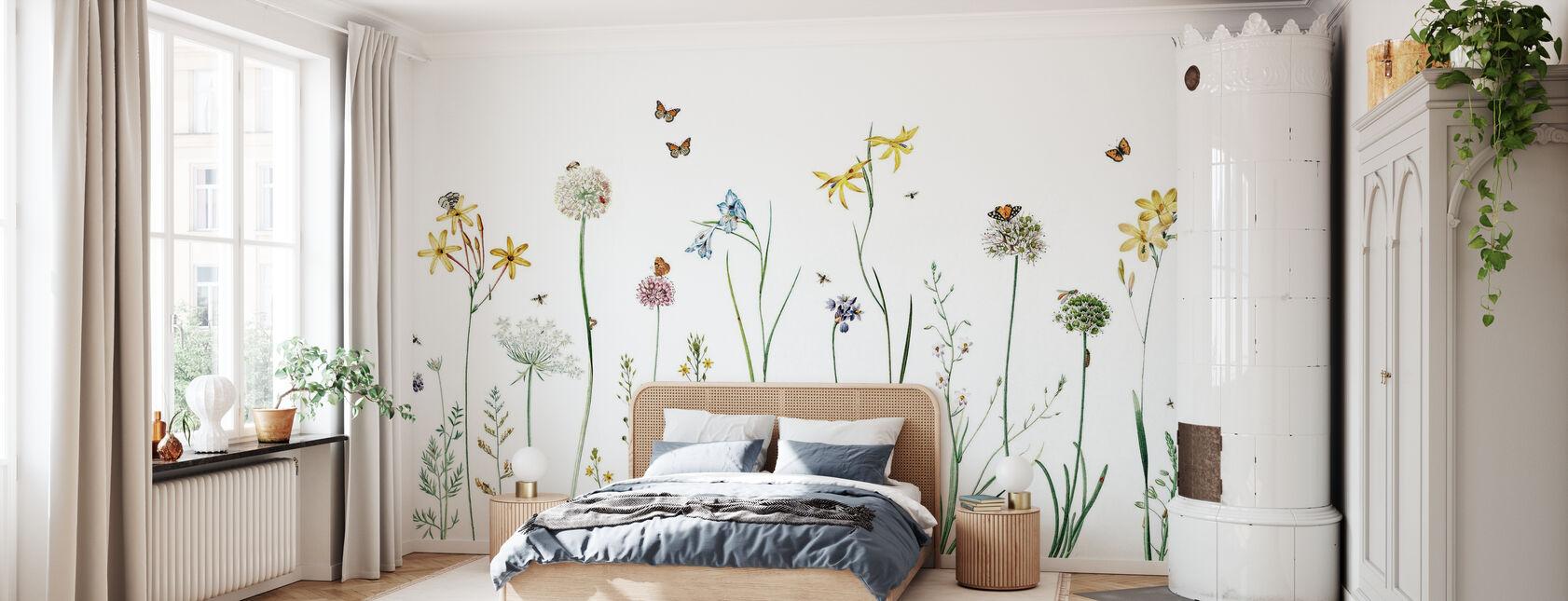 Schmetterlings-Garten - Tapete - Schlafzimmer