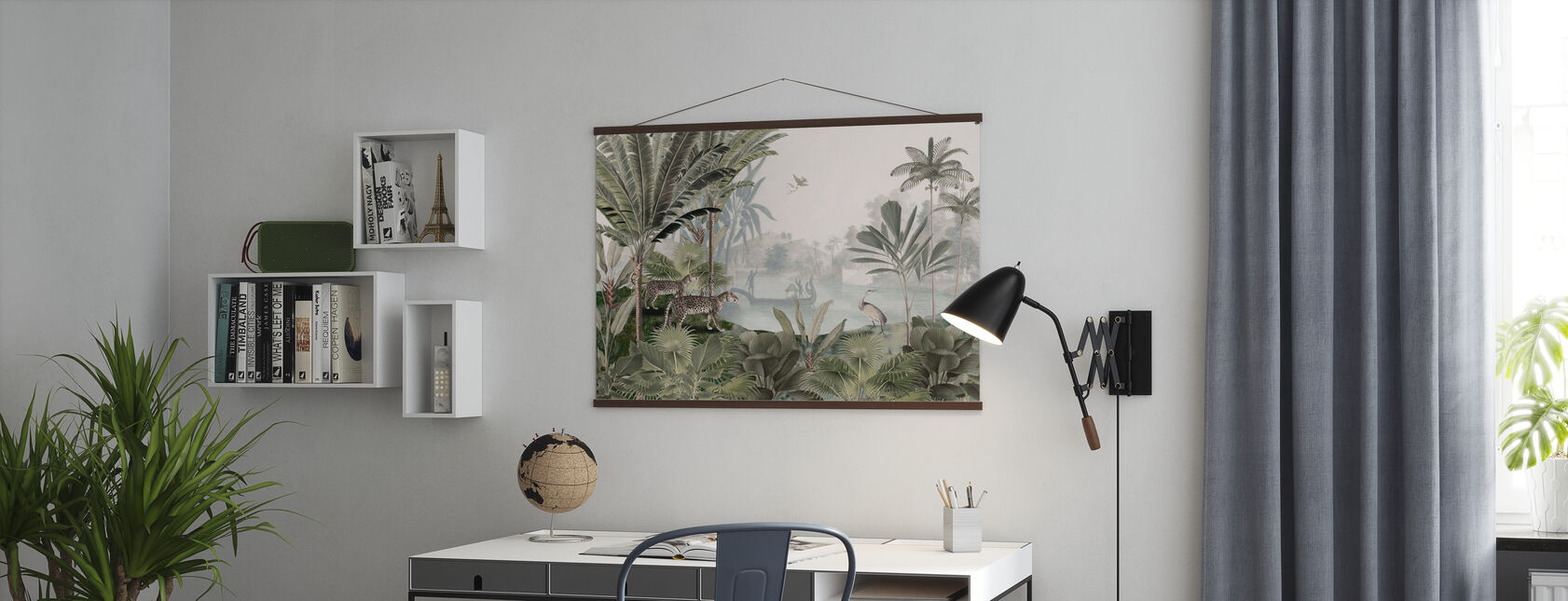 Leopard Landscape - Green - Poster - Office