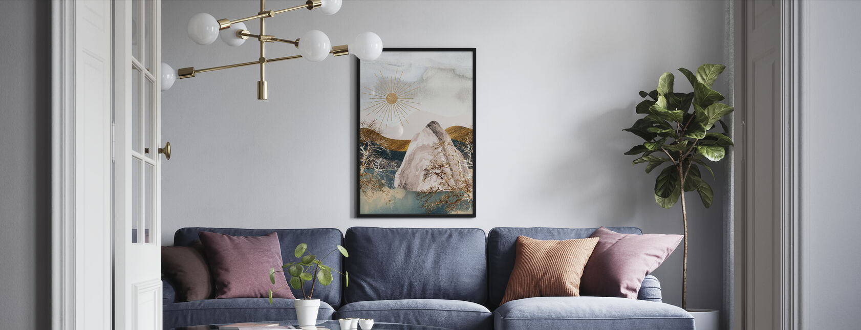 Iceberg and the Midnight Sun - Poster - Living Room