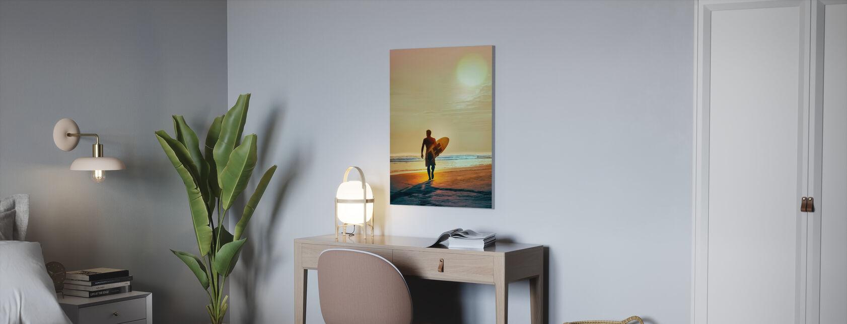 Sunset Surfer - Canvas print - Office