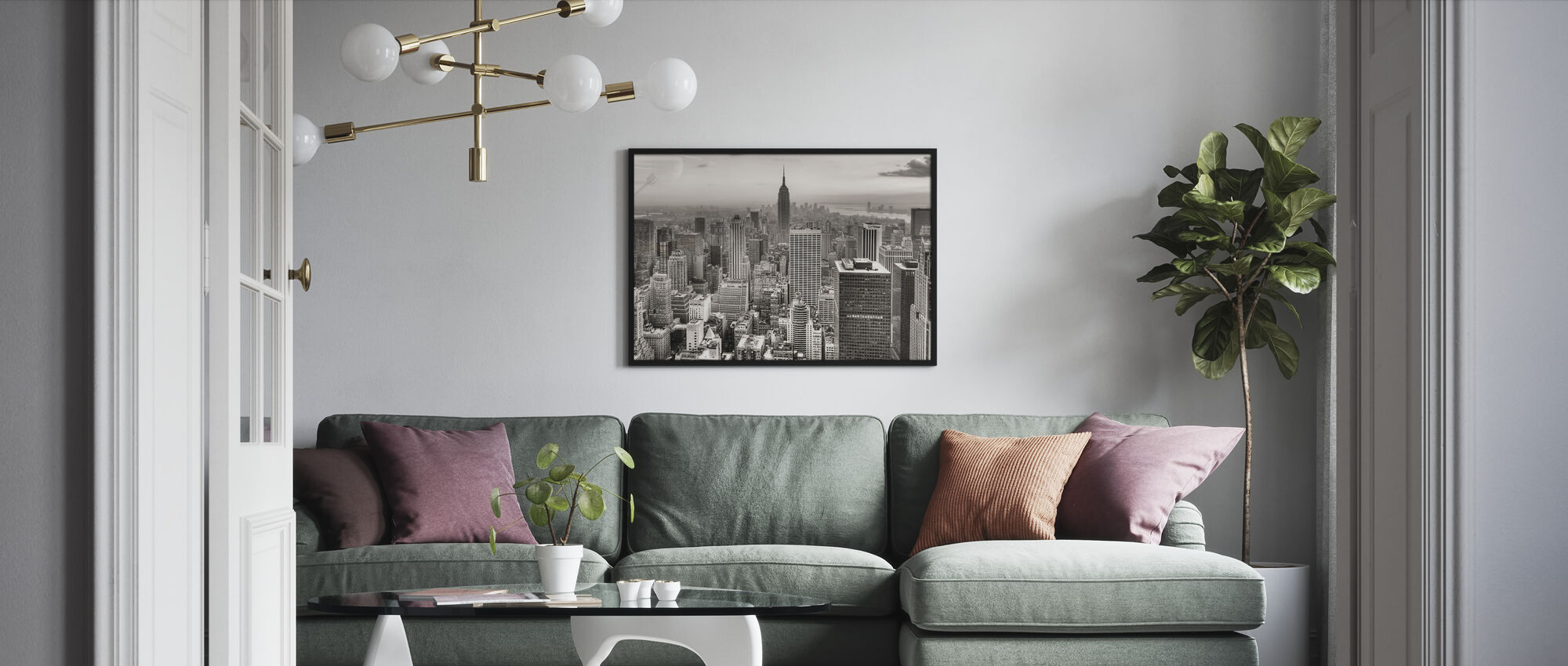 New York City, USA - Framed print - Living Room