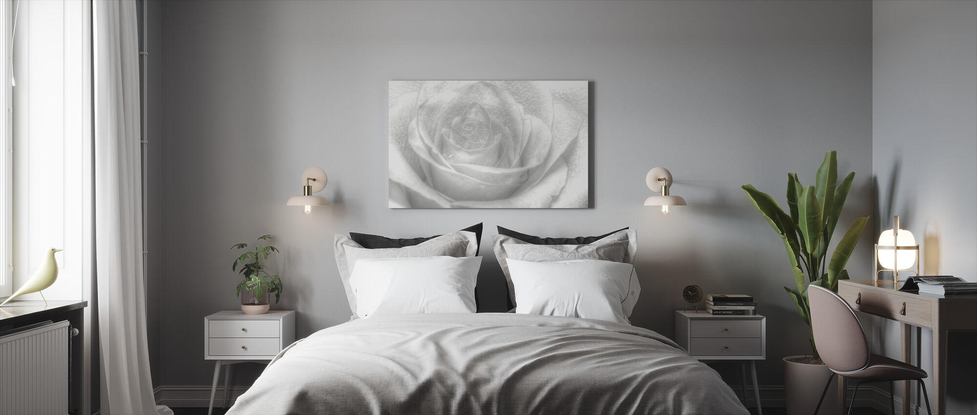 High Key Rose - Canvas print - Bedroom