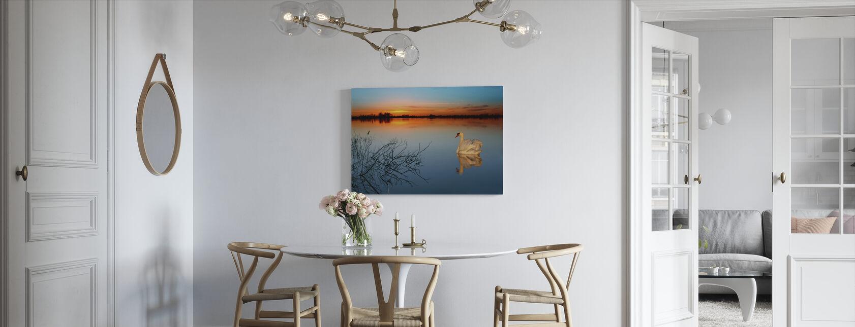 Swan on a lake - Canvas print - Kitchen