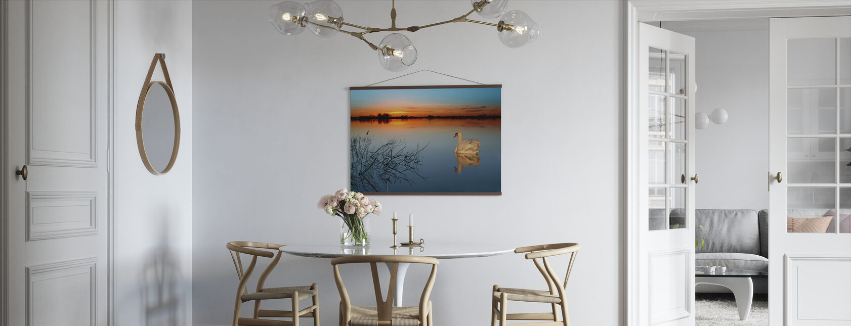 Swan on a lake - Poster - Kitchen