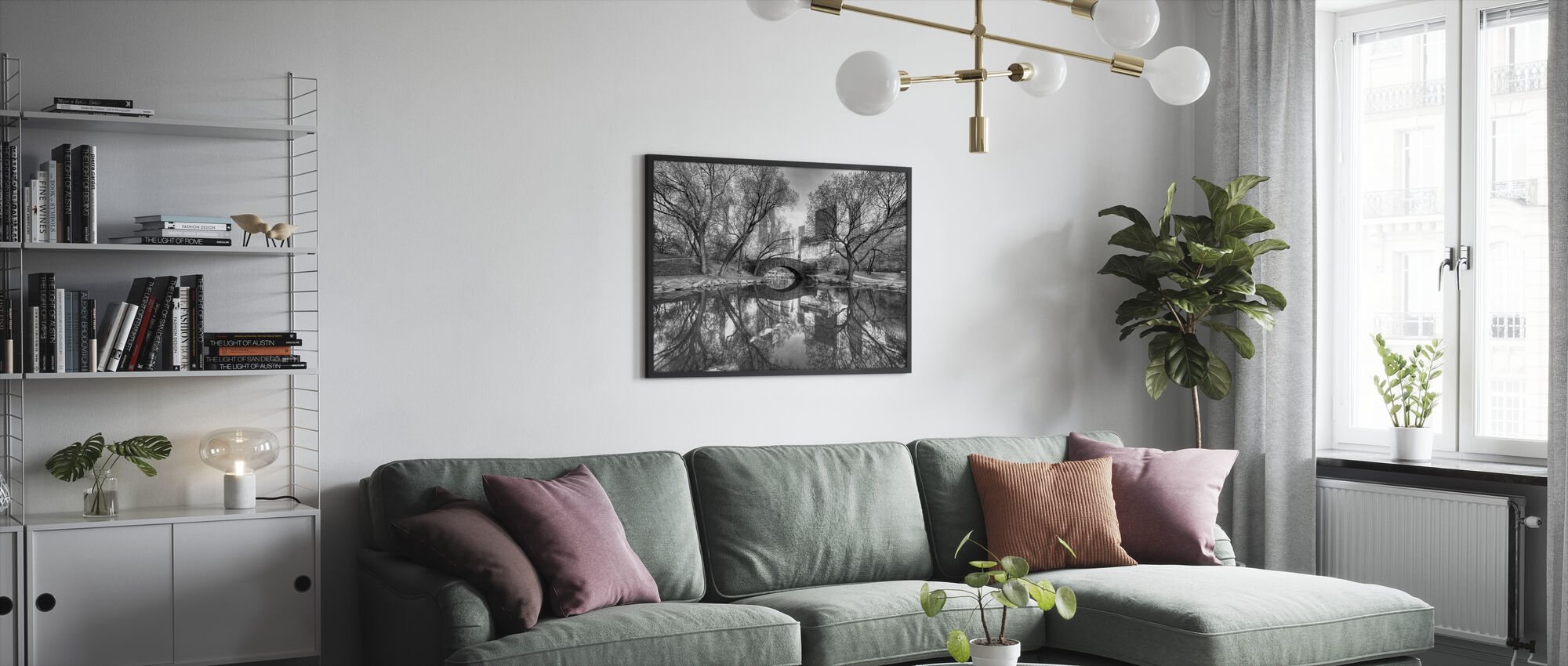 Bridge in Central Park - Framed print - Living Room