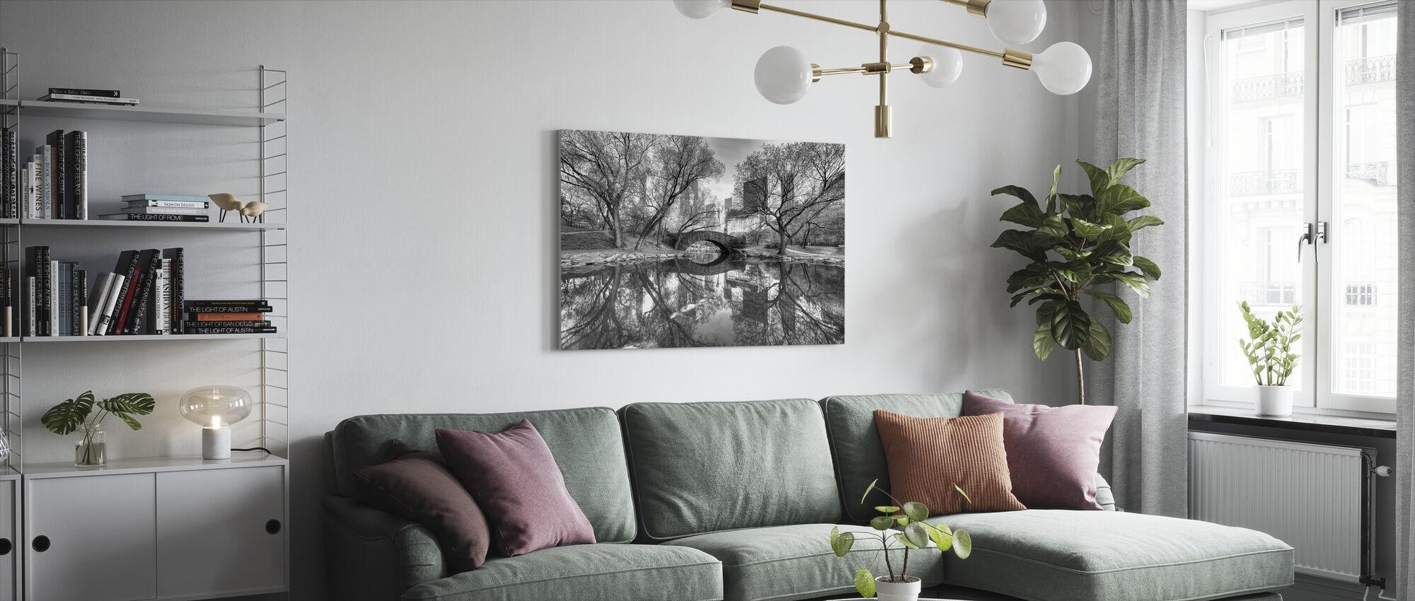 Bro i Central Park - Canvastavla - Vardagsrum