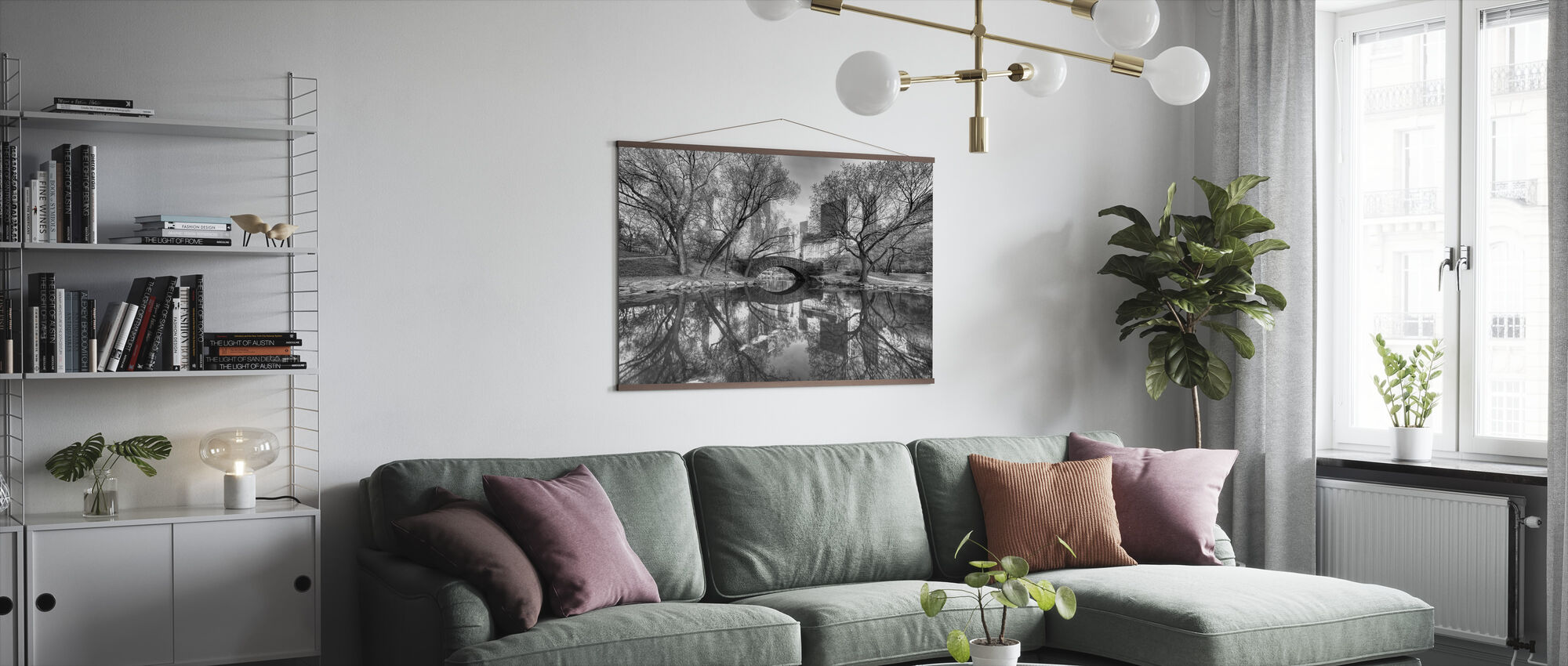 Bridge in Central Park - Poster - Living Room