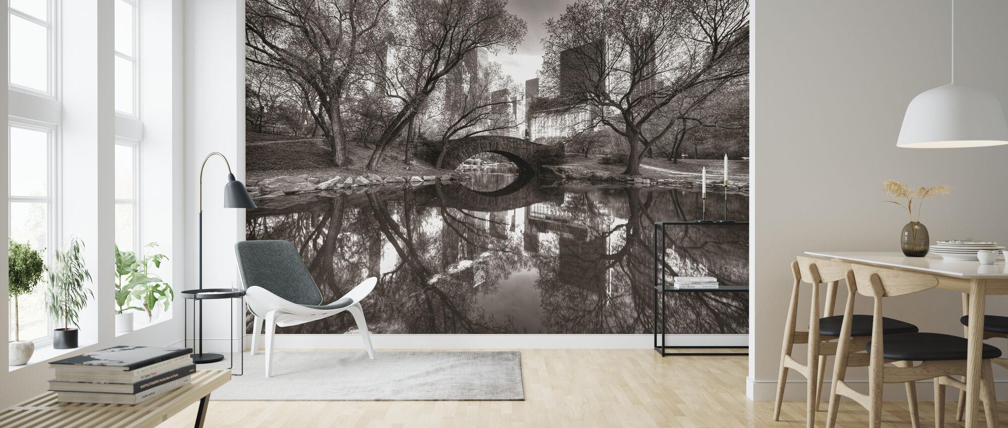 Bridge in Central Park, New York, USA - Wallpaper - Living Room