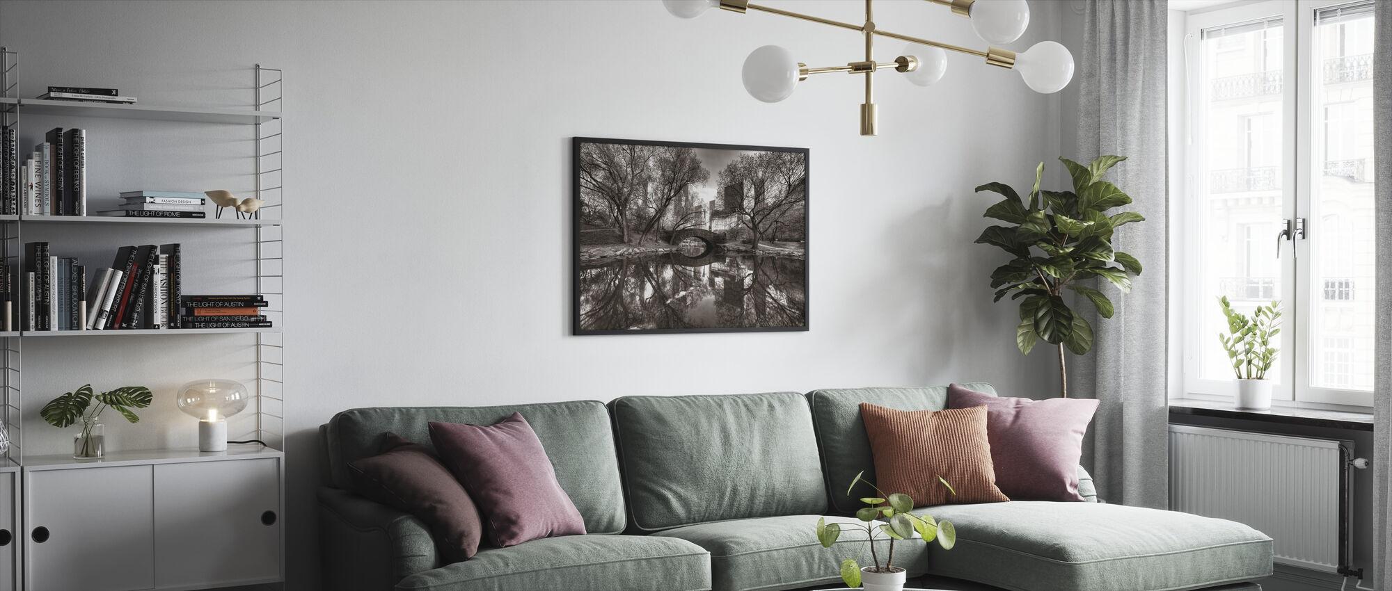 Bridge in Central Park, New York, USA - Framed print - Living Room