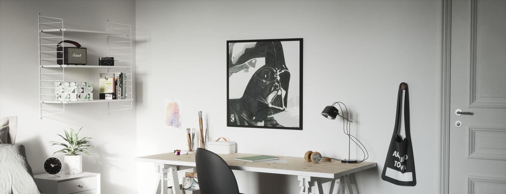 Tähtien sota - Darth Vader 1 - Kehystetty kuva - Lastenhuone