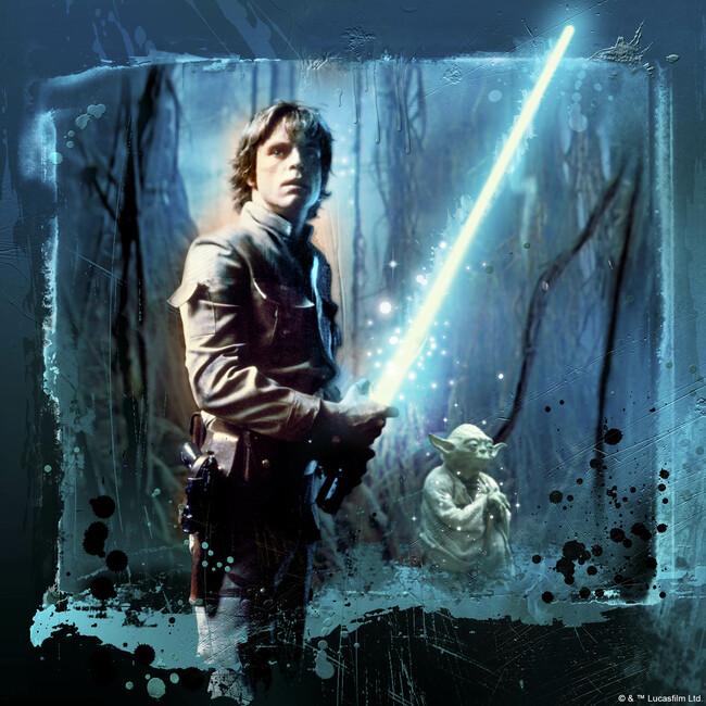 Star Wars - Luke Skywalker and Yoda Fototapeter & Tapeter 100 x 100 cm