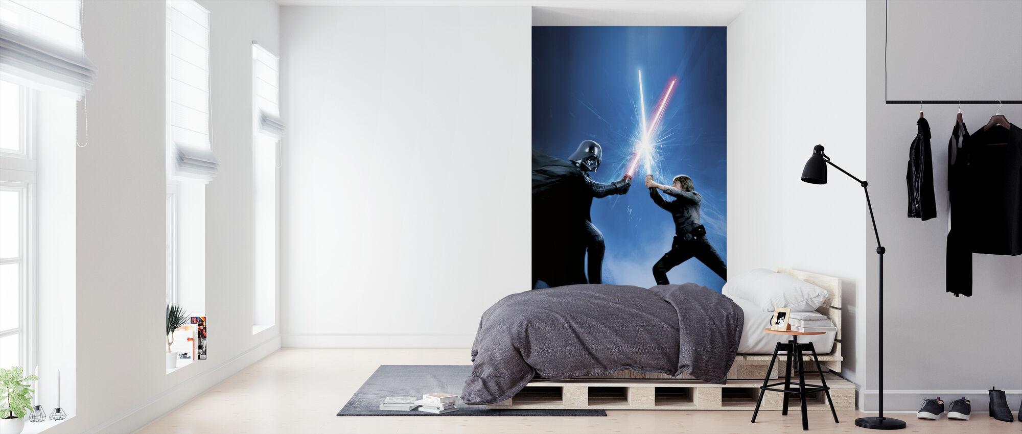 Stjärnornas krig - Darth Vader och Luke Skywalker - Tapet - Sovrum