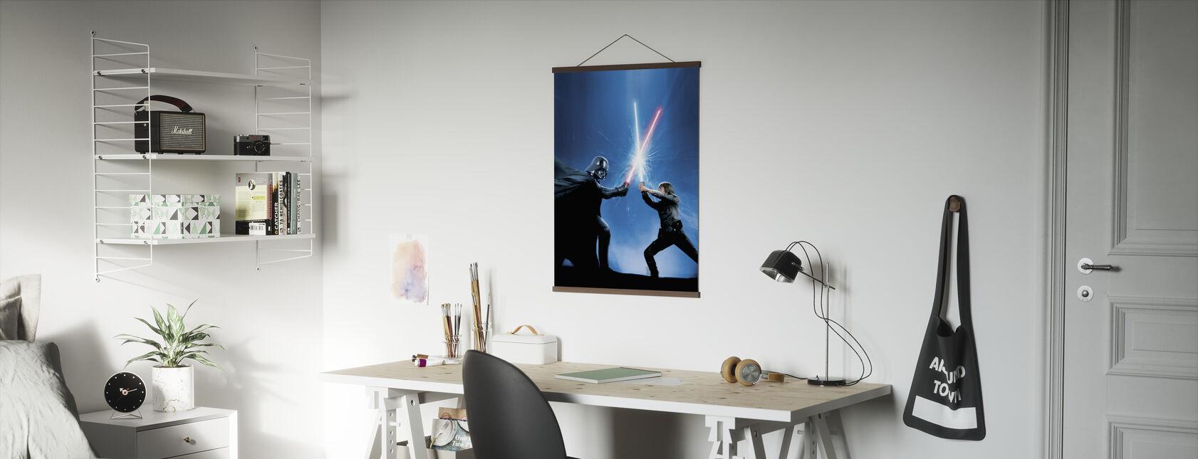 Stjärnornas krig - Darth Vader och Luke Skywalker - Poster - Kontor