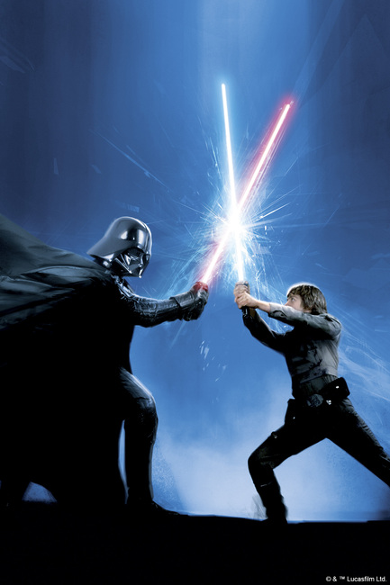 Star Wars - Darth Vader and Luke Skywalker Fototapeter & Tapeter 100 x 100 cm