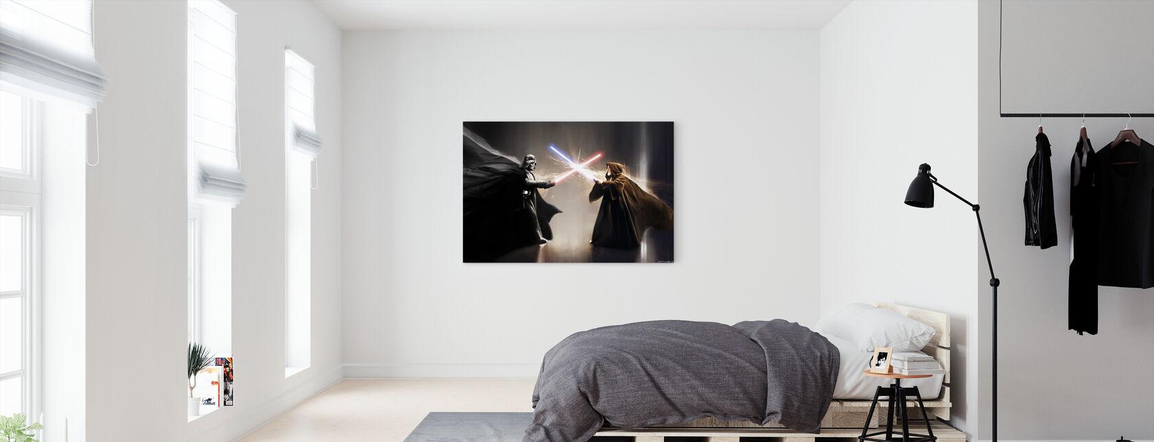 Stjärnornas krig - Darth Vader och Obi-Wan Kenobi - Canvastavla - Sovrum