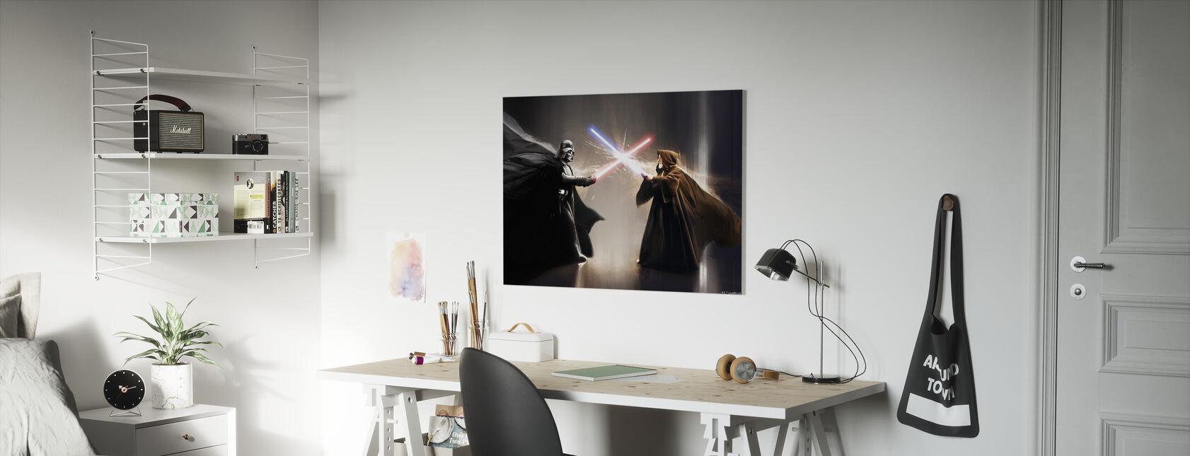 Tähtien sota - Darth Vader ja Obi-Wan Kenobi - Canvastaulu - Lastenhuone