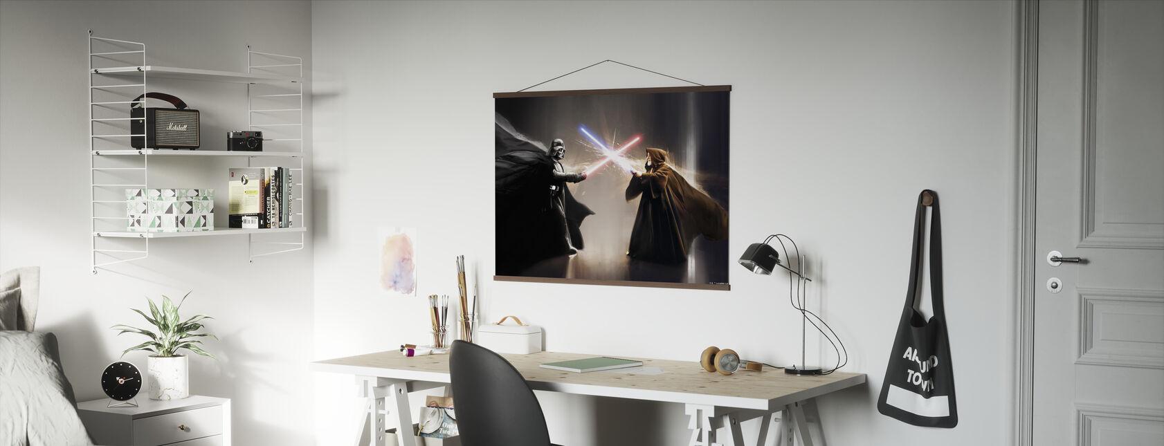 Star Wars - Darth Vader og Obi-Wan Kenobi - Plakat - Kontor