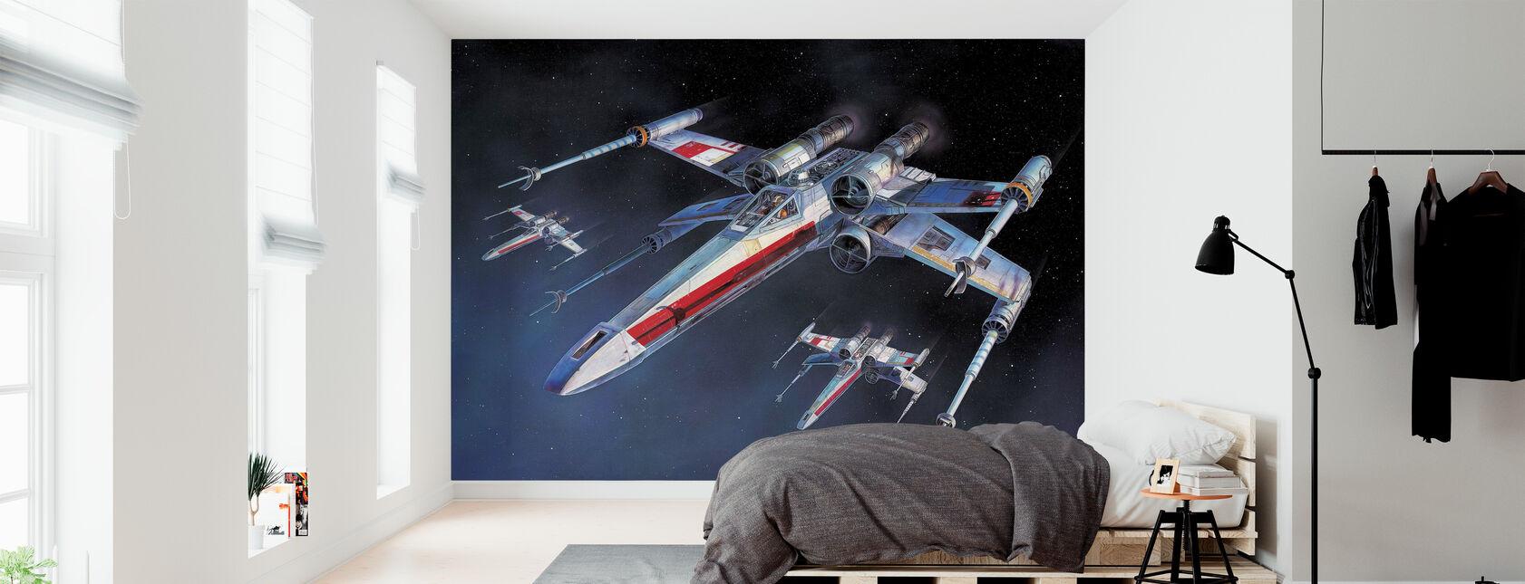 Star Wars - X-wing Starfighters - Carta da parati - Camera da letto