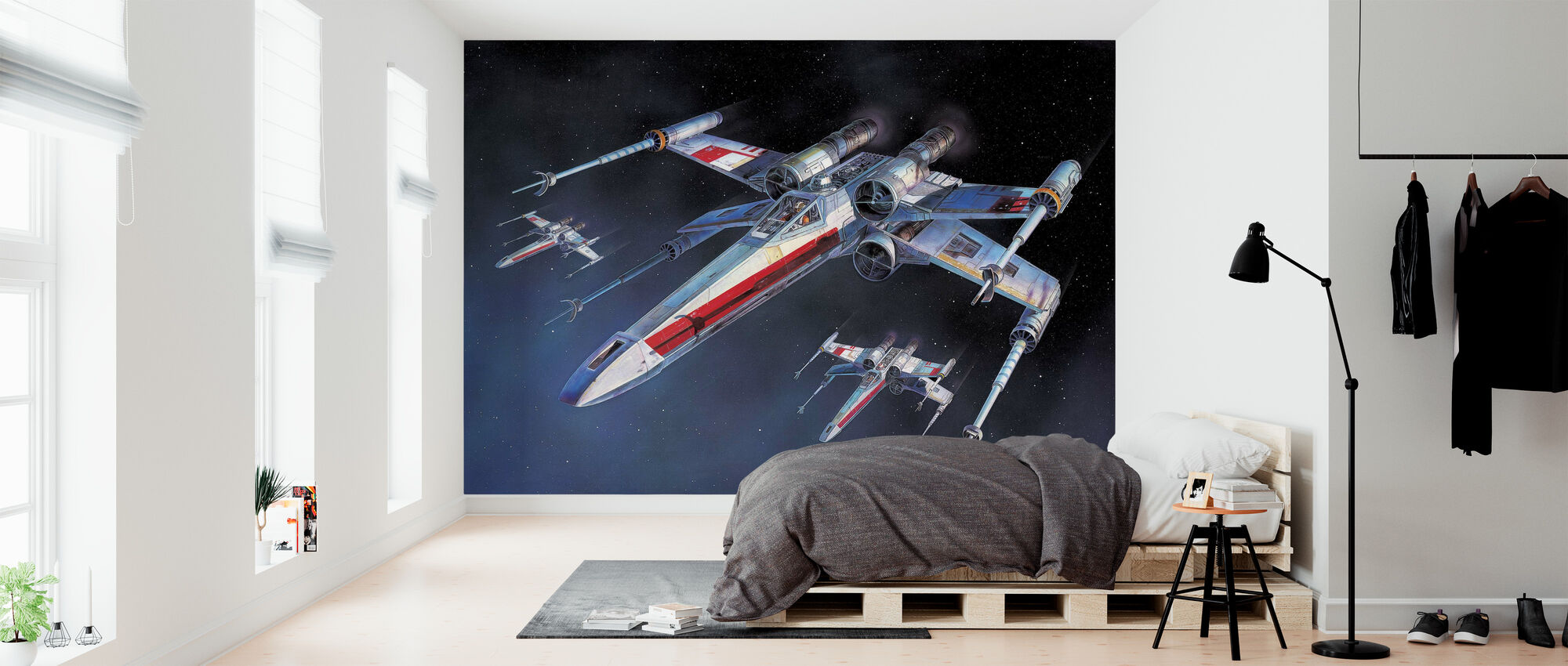Star Wars - X-wing Starfighters - Tapet - Sovrum