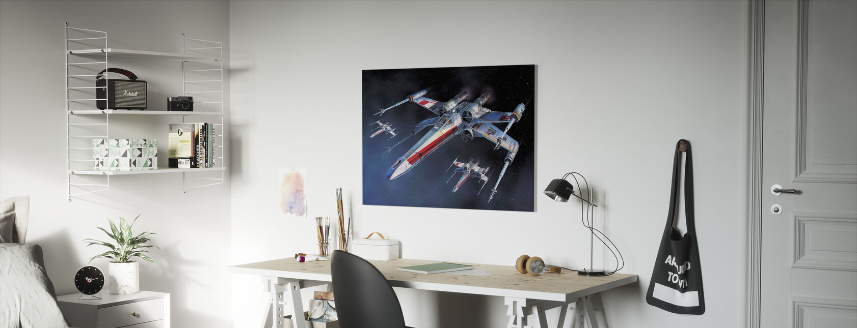 Star Wars - X-wing Starfighters - Stampa su tela - Camera dei bambini