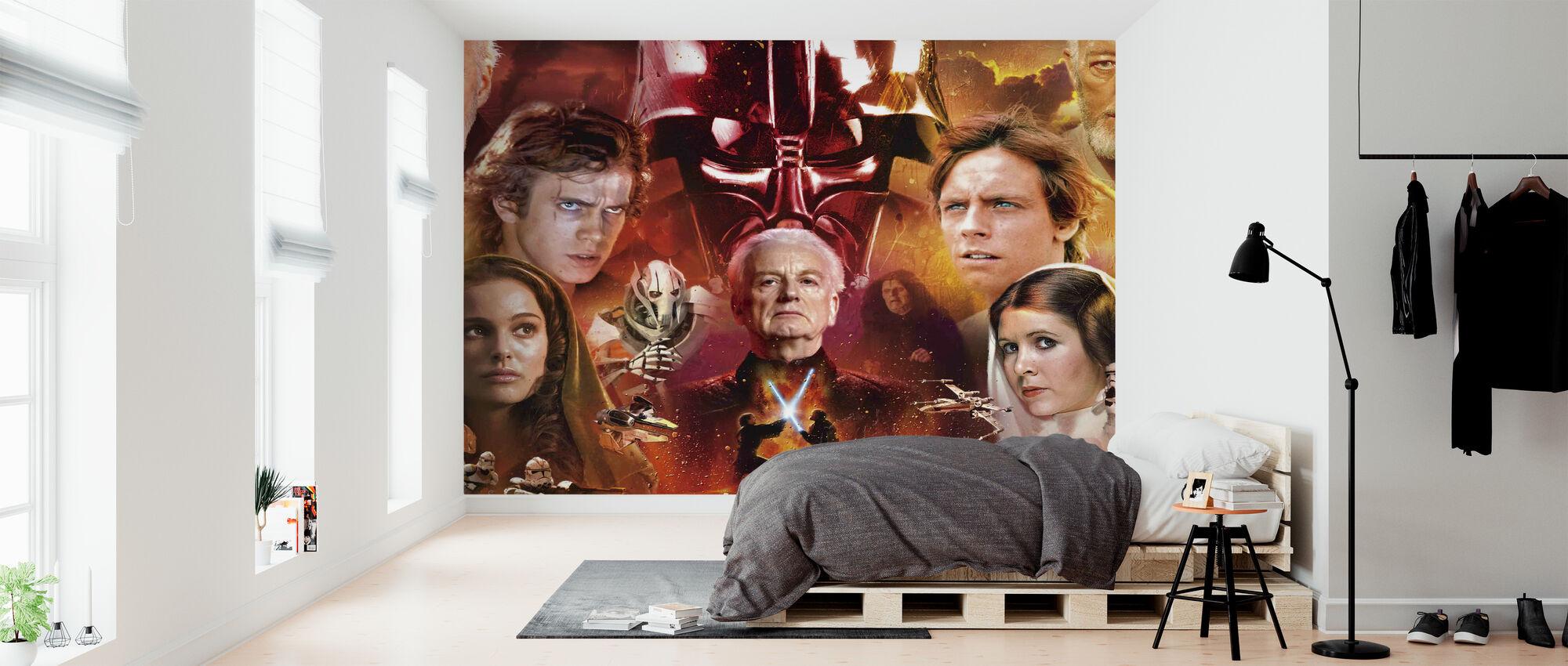 Star Wars - Collage - Tapet - Soverom