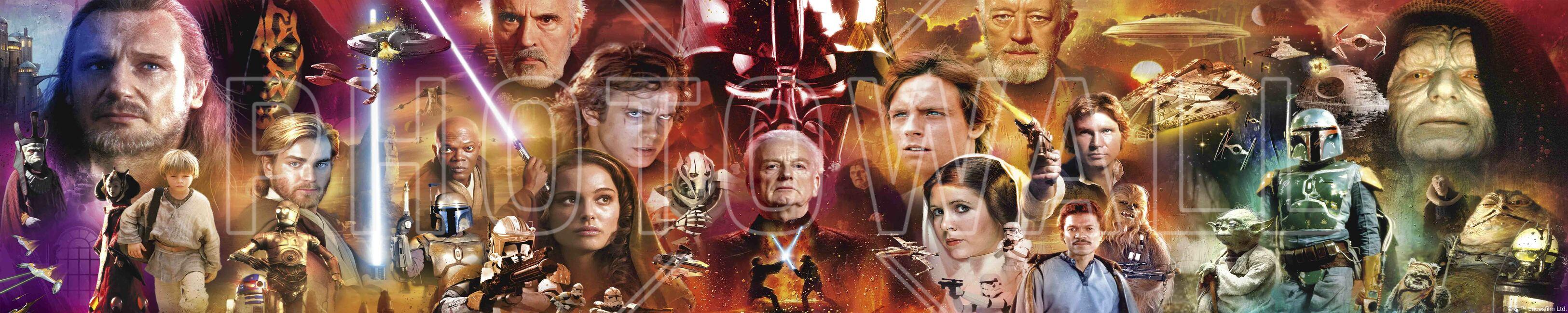 Star Wars - Collage Fototapeter & Tapeter 100 x 100 cm