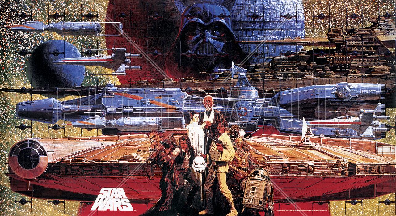 Star Wars - Poster 1 – billeder på lærred til alle miljøer – Photowall.