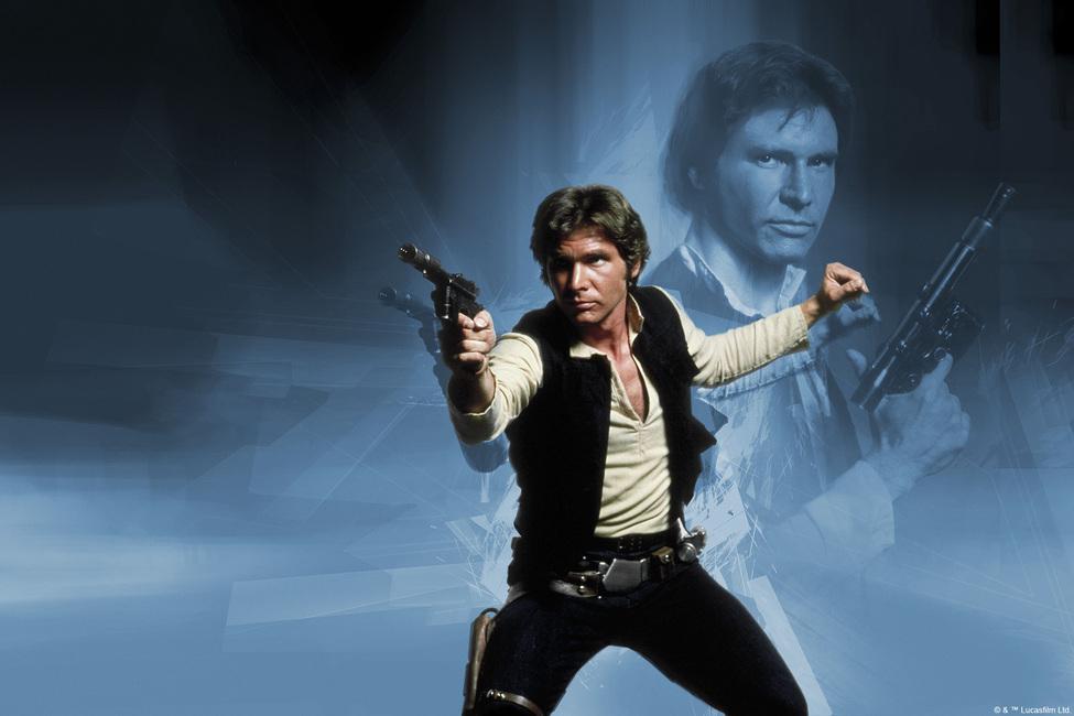Star Wars - Han Solo Weapon Fototapeter & Tapeter 100 x 100 cm
