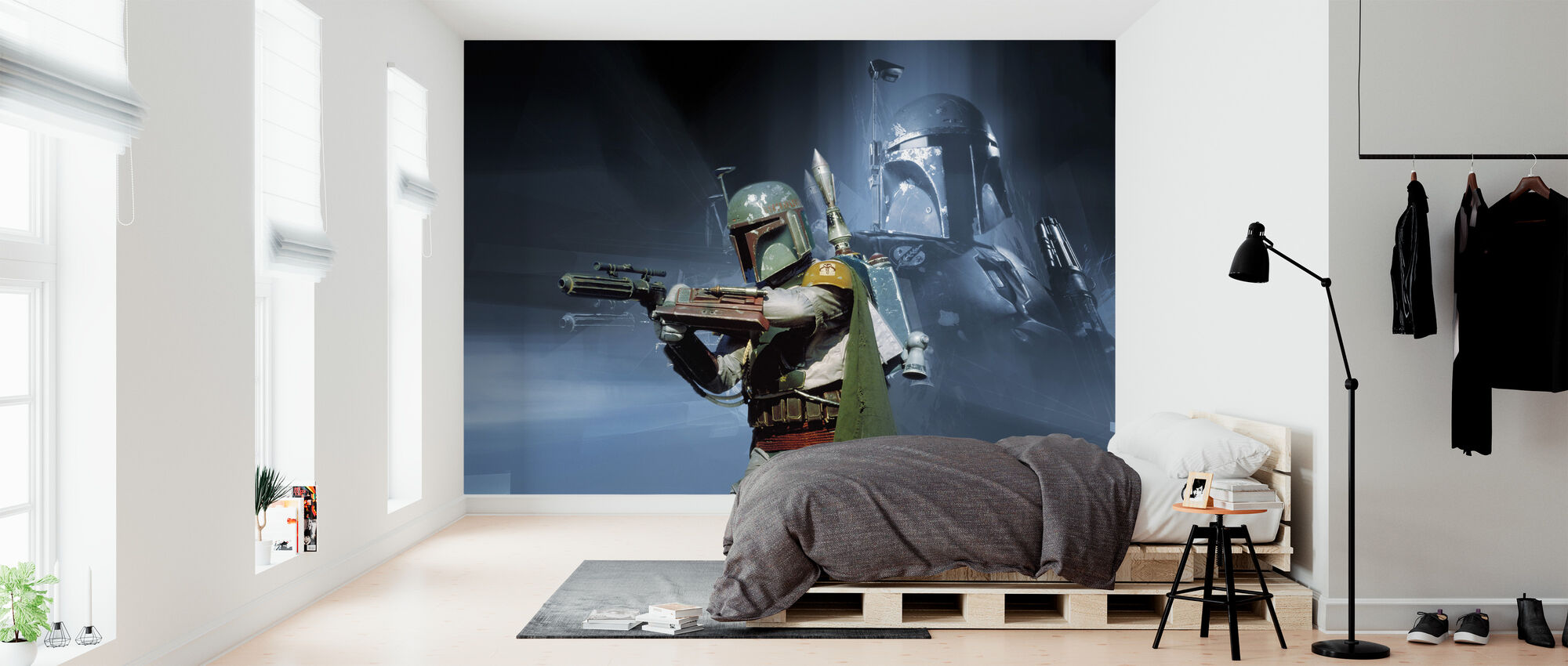 Star Wars - Boba Fett vapen - Tapet - Sovrum