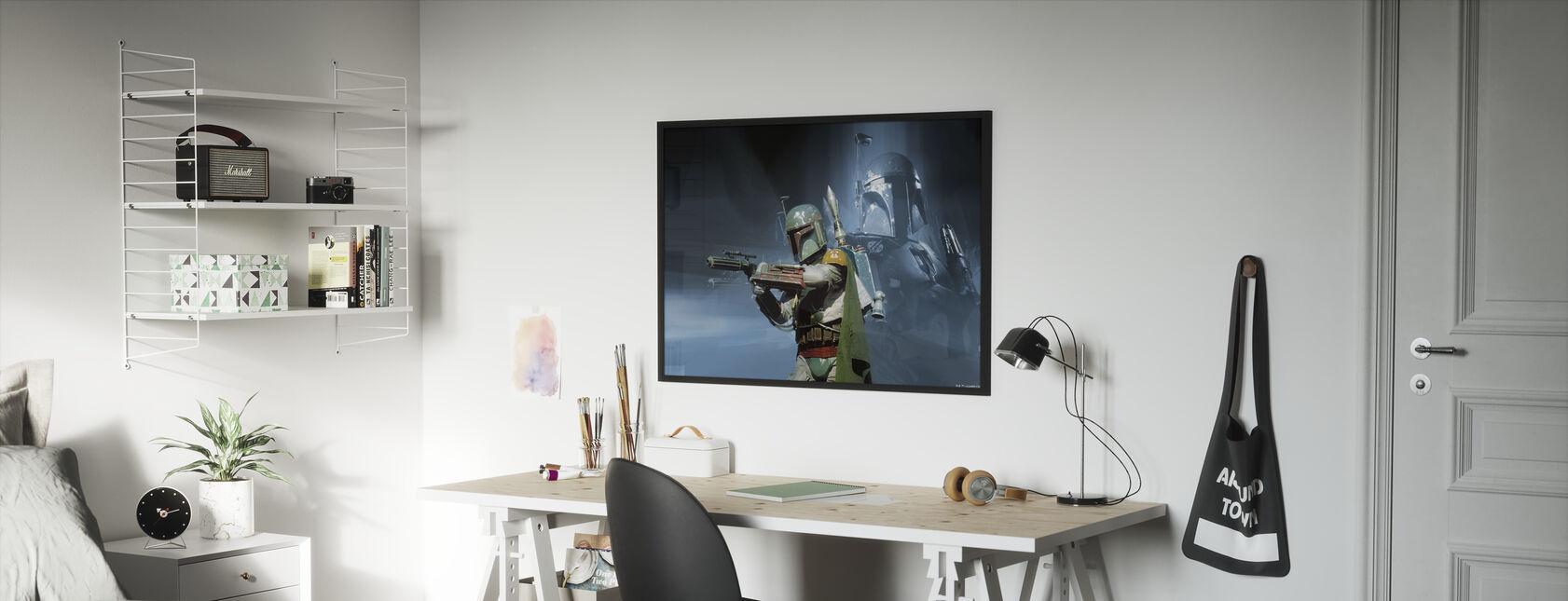 Tähtien sota - Boba Fett ase - Kehystetty kuva - Lastenhuone
