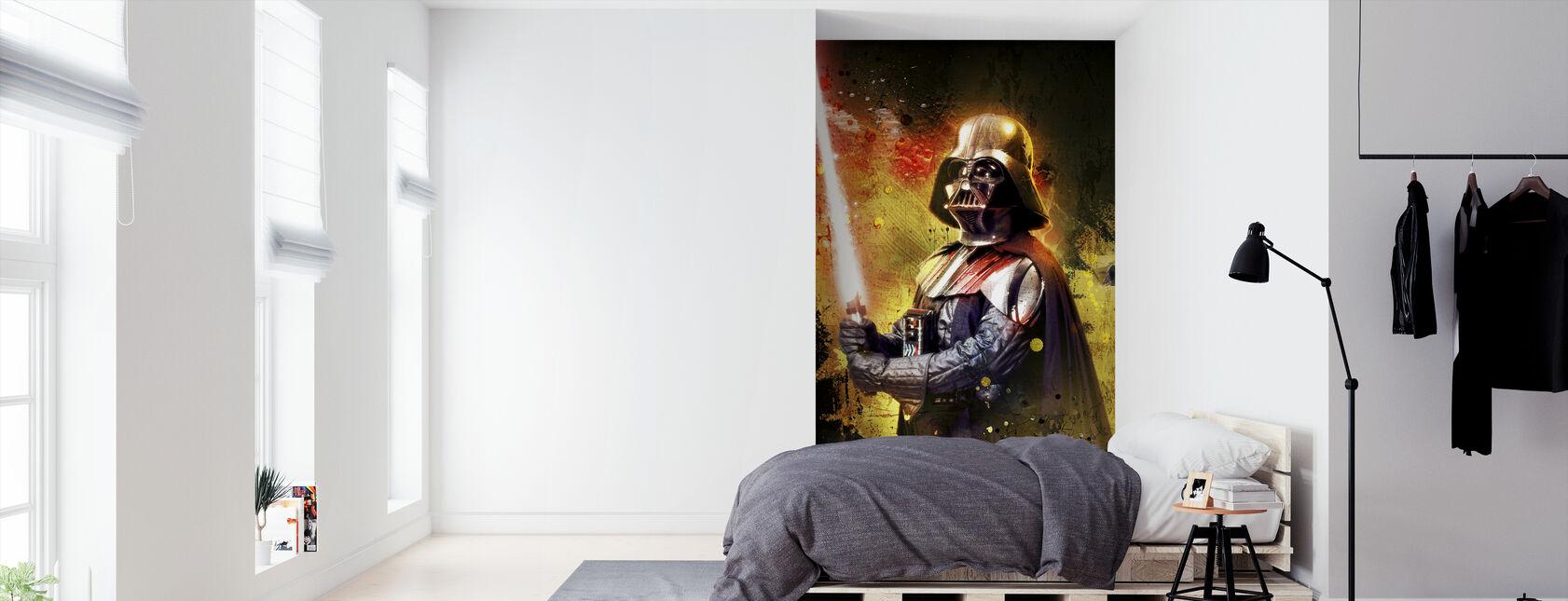 Star Wars - Darth Vader kolor miecz świetlny - Tapeta - Sypialnia