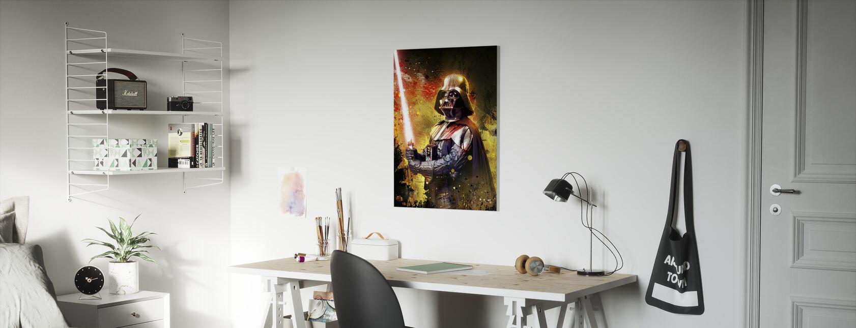 Star Wars - Darth Vader lichtzwaard kleur - Canvas print - Kinderkamer